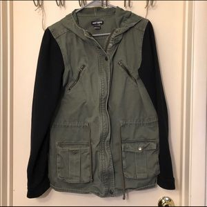 Hot Topic Hooded Utility Jacket